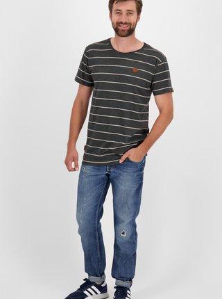 Čierne pánske pruhované tričko Alife and Kickin