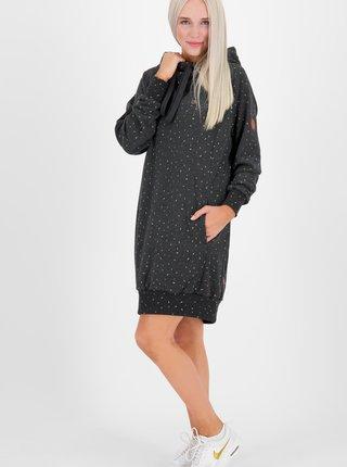 Čierne vzorované mikinové šaty Alife and Kickin