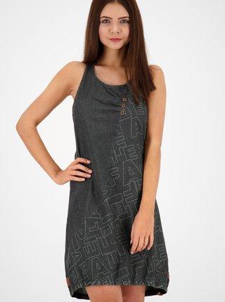 Čierne rifľové vzorované šaty Alife and Kickin