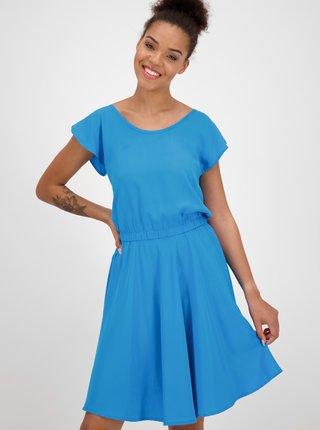 Modré šaty s priestrihom na chrbte Alife and Kickin