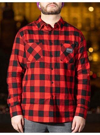 Červená košile s nášivkou Night Animal