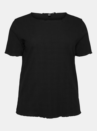Čierne tričko VERO MODA CURVE Grunt