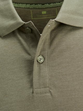 Khaki polo tričko Jack & Jones Schultz