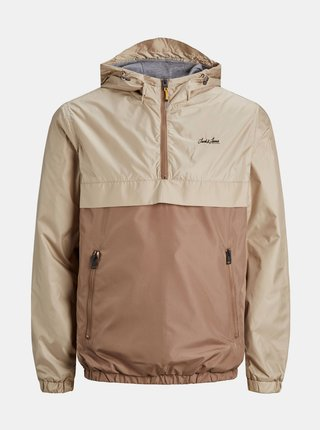 Hnedo-béžový anorak Jack & Jones Hunter