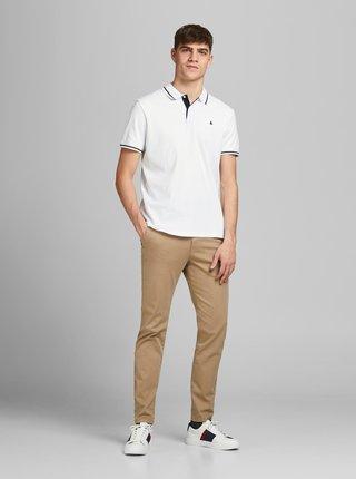 Bílé polo tričko Jack & Jones Jersey
