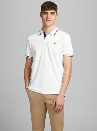 Biela polo košeľa Jack & Jones Jersey