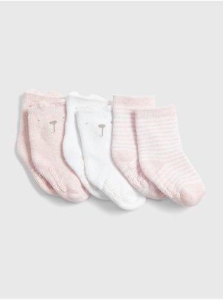 Ponožky GAP, 3 páry Farebná