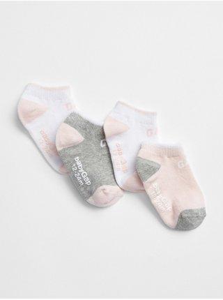 Barevné holčičí ponožky GAP, 4 páry