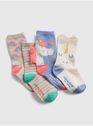 Ponožky GAP, 4 páry Farebná