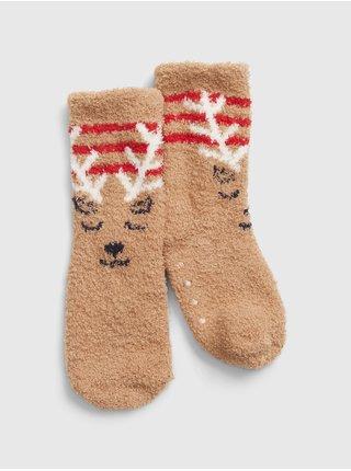 Hnědé holčičí ponožky GAP