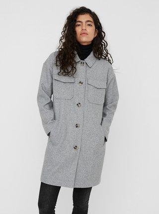 Šedý kehký kabát VERO MODA Dafne