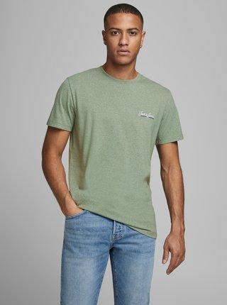 Zelené žíhané tričko Jack & Jones Tons