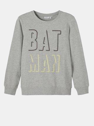 Šedá klučičí mikina name it Batman
