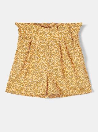 Žlté dievčenské vzorované kraťasy name it Dera