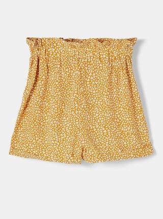 Žluté holčičí vzorované kraťasy name it Dera