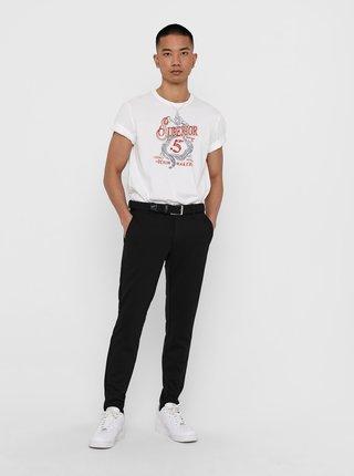 Biele tričko s potlačou ONLY & SONS Dexter