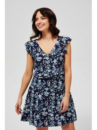 Moodo modré šaty s květinovým vzorem