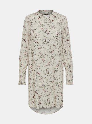 Krémová kvetovaná dlhá košeľa Jacqueline de Yong Peak