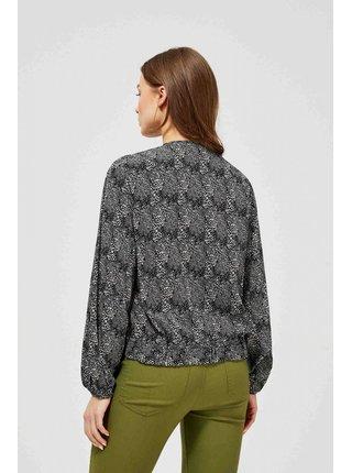 Moodo košeľa s mašlí s drobným vzorom