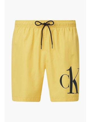 Calvin Klein žluté pánské plavky Medium Drawstring