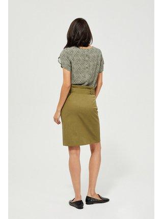 Moodo khaki sukňa s vázankou