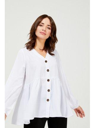 Moodo biele voľná košeľa