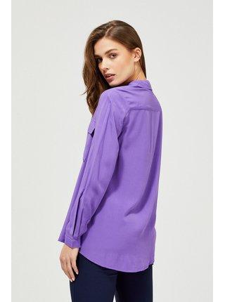 Moodo fialové zapínacia košeľa