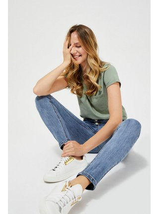 Moodo modré džíny s vysokým pasem