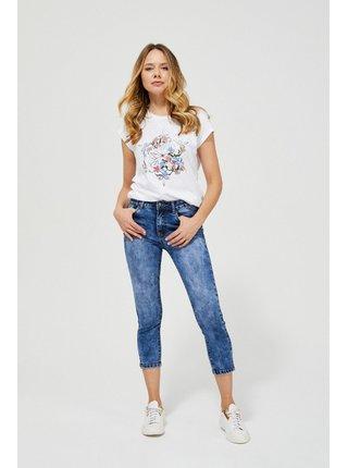 Moodo modré tříčtvrteční džínsy