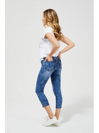 Moodo modré tříčtvrteční džíny