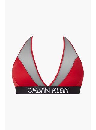 Calvin Klein červený horní díl plavek High Apex Triangle-RP