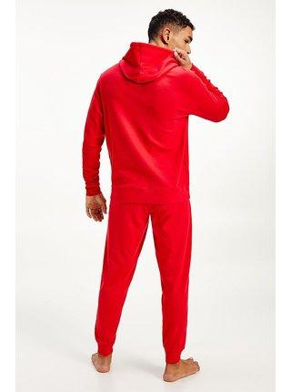Tommy Hilfiger červená pánská mikina Hoodie LWK s kapucí