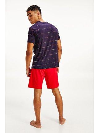 Tommy Hilfiger modré pánske tričko CN SS TEE Print s potlačou