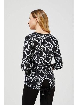 Moodo čierne tričko so vzorom