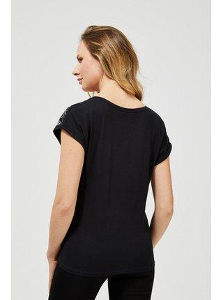 Moodo černé tričko s potiskem