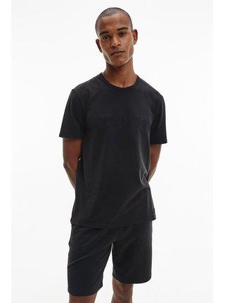 Calvin Klein čierne pánske tričko S/S Crew Neck