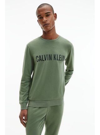 Calvin Klein khaki pánská mikina L/S Sweatshirt