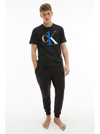 Calvin Klein černé pánské tričko S/S Crew Neck