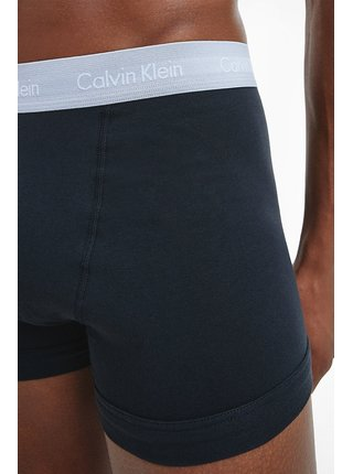 Calvin Klein černý 3 pack boxerek Cotton Stretch Black w. Jade Sea/Sky High/Sleek Silver WB