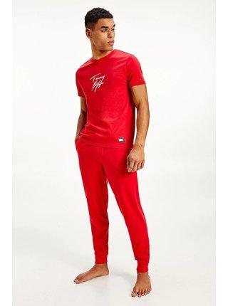 Tommy Hilfiger červené pánske tričko CN SS Tee Logo