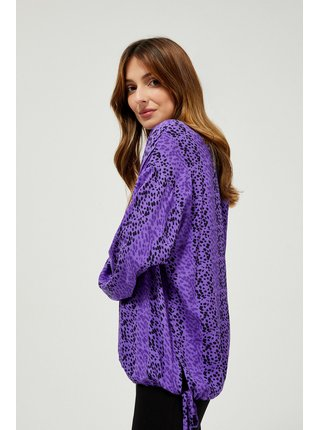 Moodo fialové blúzka se vzorem