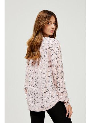 Moodo pudrová košile s drobným vzorem