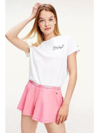 Tommy Hilfiger bielo-ružové dámske pyžamo SS Short set