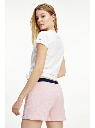 Tommy Hilfiger bielo-ružové dámske pyžamo SS Short set s logom
