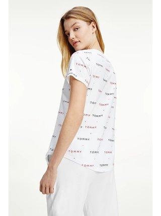 Tommy Hilfiger biele dámske tričko SS Tee Print s logom