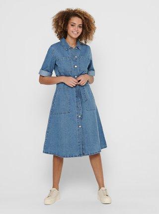 Modré džínové košilové šaty Jacqueline de Yong Athena