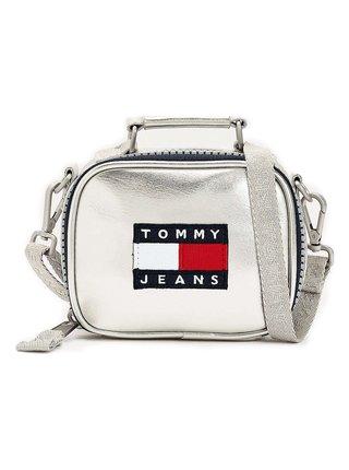 Tommy Hilfiger stříbrná malá crossbody kabelka TJW Heritage Nano Bag