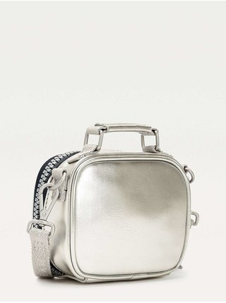 Tommy Hilfiger strieborná malá crossbody kabelka TJW Heritage Nano Bag