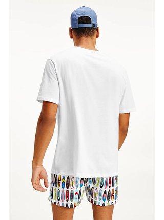 Tommy Hilfiger biele pánske tričko Drop Shoulder Tee Print