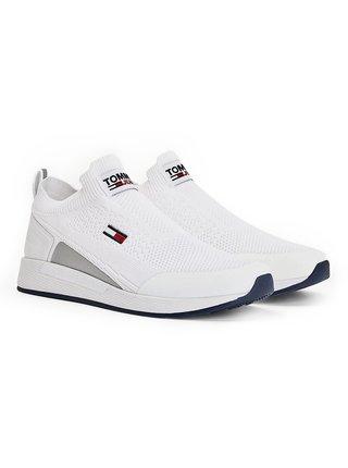 Tommy Hilfiger biele pánske tenisky Tommy Jeans Flexi Sock Runner